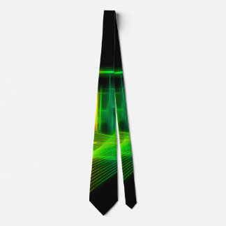 Awesome glowing lines and geometric shapes tie