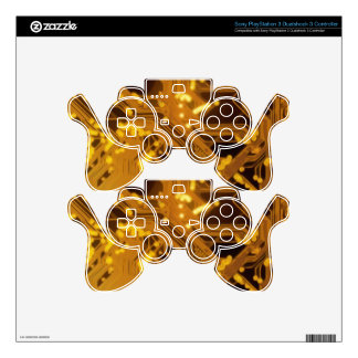 AWESOME GOLD CIRCUIT BOARD PS3 CONTROLLER DECALS