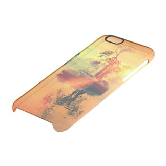 Awesome golden sunset on the sea clear iPhone 6/6S case