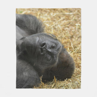 awesome Gorilla Fleece Blanket