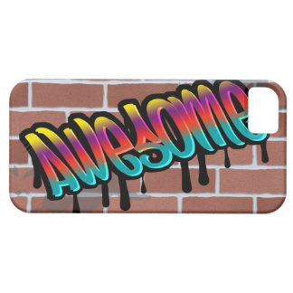 AWESOME graffiti art on brick wall iPhone 5 Cover