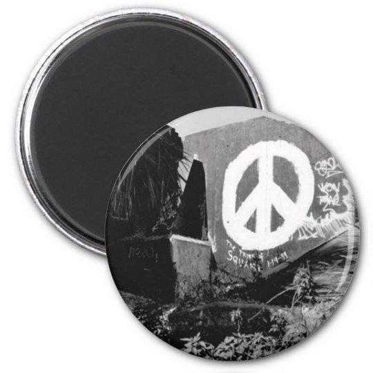 awesome graffiti peace magnet