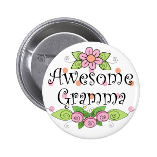 Awesome Gramma T-Shirt Pinback Buttons