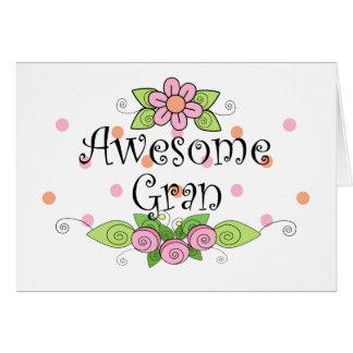 Awesome Gran T-Shirt Greeting Card