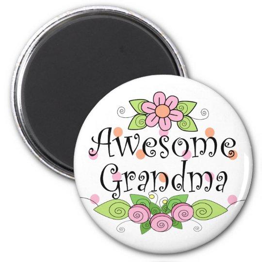 Awesome Grandma T-Shirt Magnet