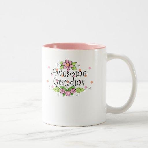 Awesome Grandma T-Shirt Coffee Mugs