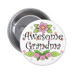 Awesome Grandma T-Shirt Pinback Button