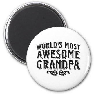 Awesome Grandpa 2 Inch Round Magnet