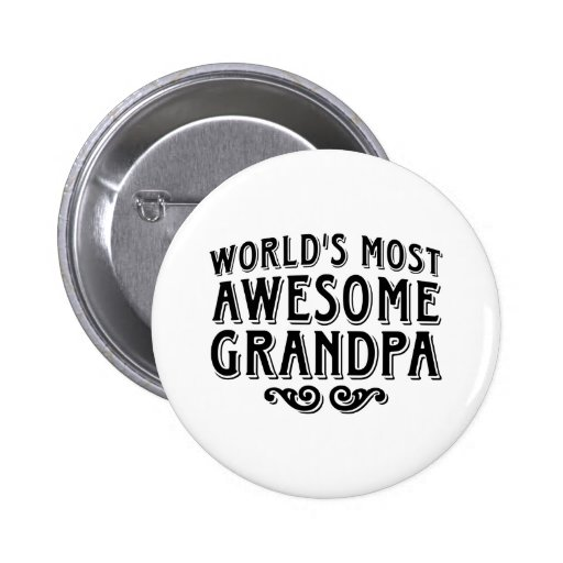 Awesome Grandpa Buttons