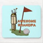 Awesome Grandpa Golf Mousepad