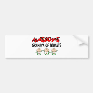 AWESOME GRANDPA of TRIPLETS Car Bumper Sticker