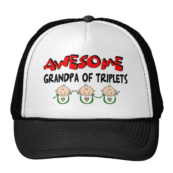 AWESOME GRANDPA of TRIPLETS Trucker Hat