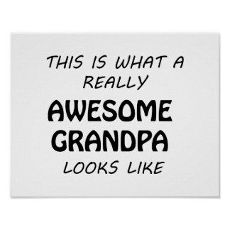 Awesome Grandpa Poster