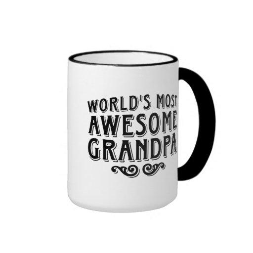 Awesome Grandpa Ringer Coffee Mug