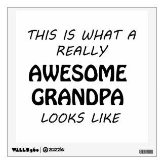 Awesome Grandpa Wall Decal