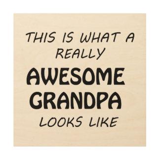 Awesome Grandpa Wood Wall Art