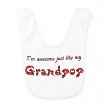 Awesome Grandpop Baby Bib