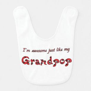 Awesome Grandpop Baby Bib