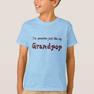 Awesome Grandpop Light Blue T-Shirt