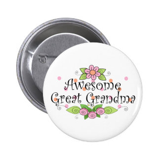 Awesome Great Grandma T-Shirt Pinback Button