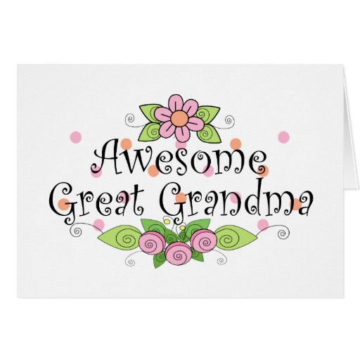 Awesome Great Grandma T-Shirt Cards