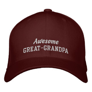 Awesome GREAT-GRANDPA/ New Grandchild or Birthday Embroidered Baseball Cap