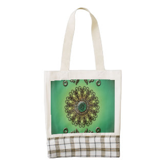 Awesome green diamond zazzle HEART tote bag