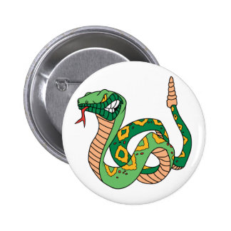 Awesome Green Rattlesnake Button