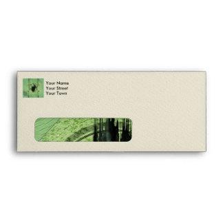 Awesome green skul envelope