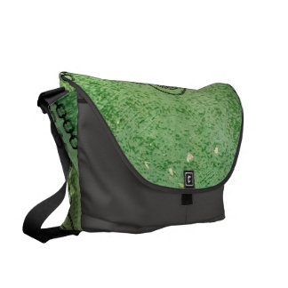 Awesome green skull courier bag