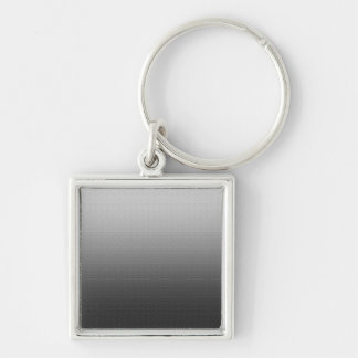 Awesome Grey Ombre Silver-Colored Square Keychain