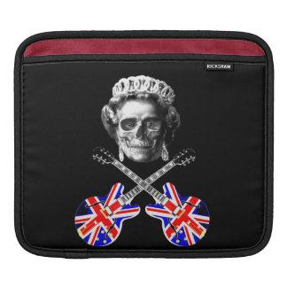 Awesome grunge British music skull and crossbones, iPad Sleeve
