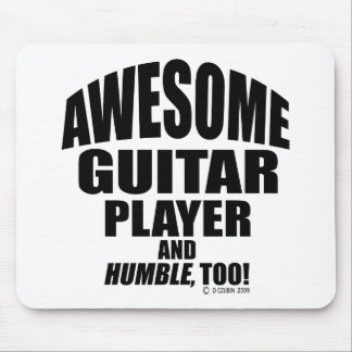 Awesome Guitar Player Mouse Pad