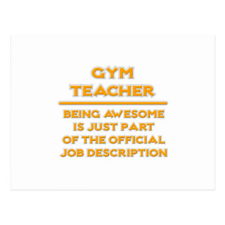 Awesome Gym Teacher .. Job Description Postcard