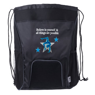 AWESOME GYMNASTICS CHAMPION DRAWSTRING BACKPACK