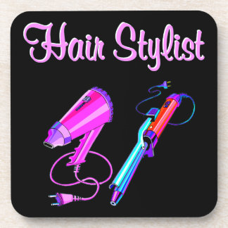 AWESOME HAIR STYLIST TEES AND GIFTS BEVERAGE COASTER