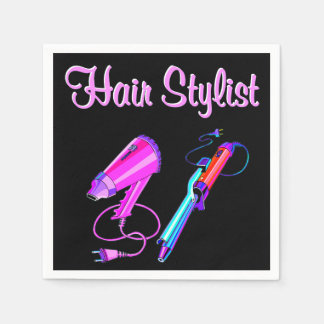 AWESOME HAIR STYLIST TEES AND GIFTS NAPKIN