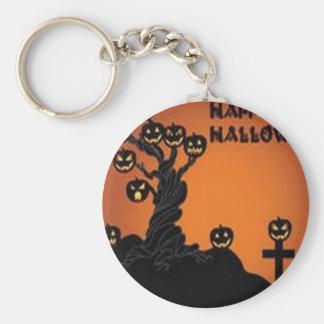 Awesome halloween tree design keychain