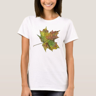 Awesome Hand Illustrated Artsy Maple Leaf T-Shirt