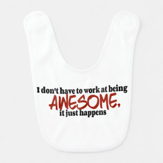 Awesome Happens Baby Bib