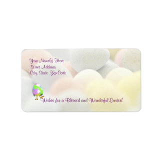 Awesome Happy Easter Newly Hatched Chick Design #2 Label