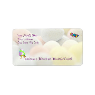 Awesome Happy Easter Newly Hatched Chick Design Label