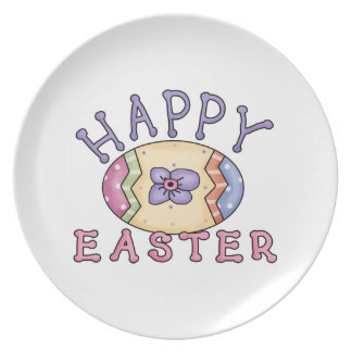 Awesome Happy Easter plate with cute Easter egg