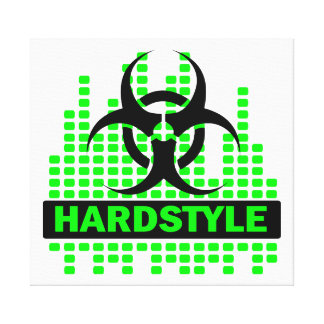 Awesome Hardstyle biohazard canvas