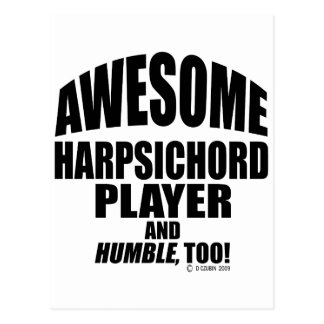 Awesome Harpsichord Player Postcard