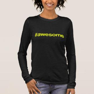 Awesome Hashtag Long Sleeve T-Shirt