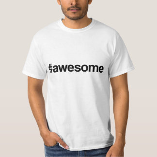 Awesome Hashtag T-shirt