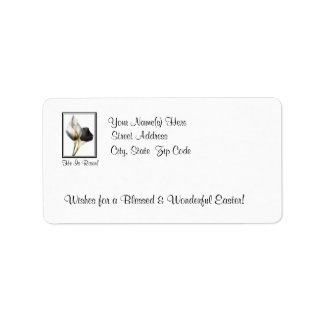 Awesome He is Risen - Beautiful Calla Lilies #2 Address Label
