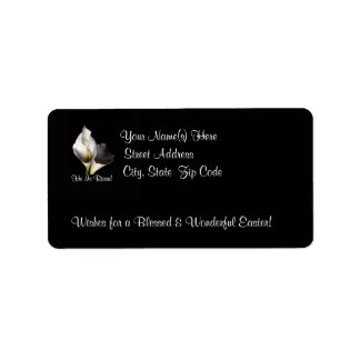 Awesome He is Risen - Beautiful Calla Lilies Address Label