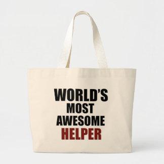 Awesome HELPER designs Tote Bag